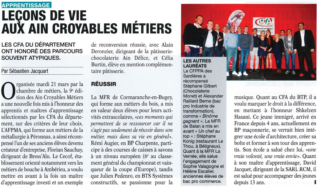 Article Eco de l'Ain