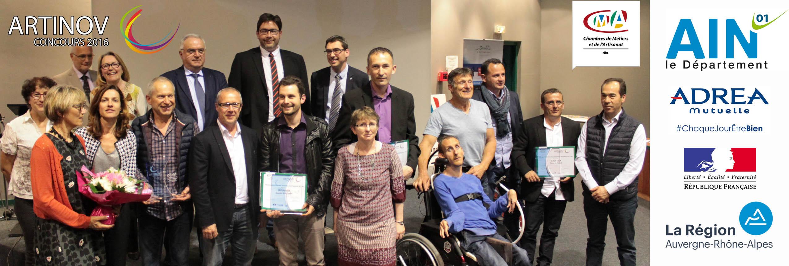Photo des lauréats et partenaires de la soirée ARTINOV au CT-IPC